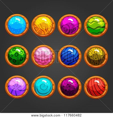 Set Of Game Buttons-2