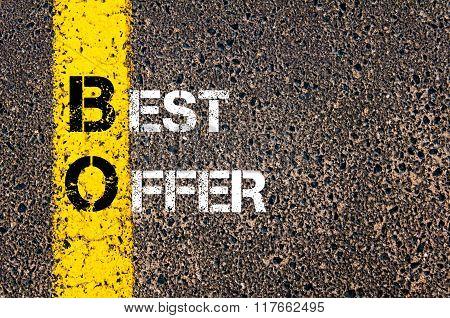 Business Acronym Bo Best Offer