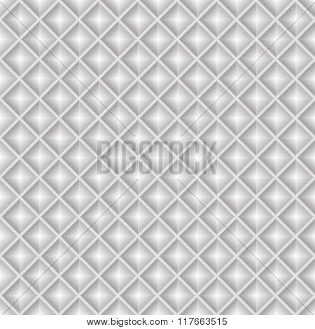 Seamless white geometric pattern diamonds squares 3D tiles vector.