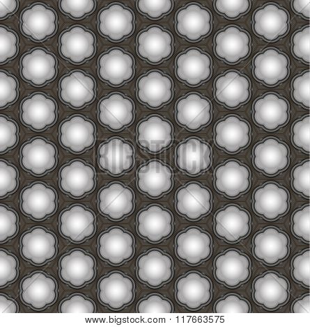 Seamless abstract 3D pattern - ceiling lamps with shadows.