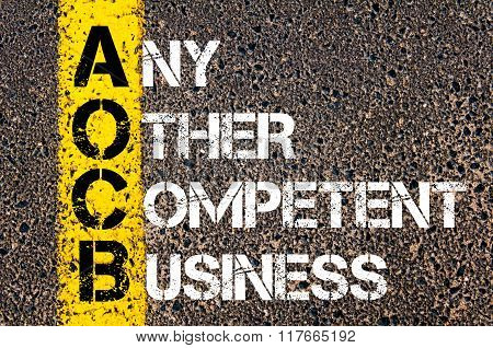Business Acronym Aocb Any Other Competent Business