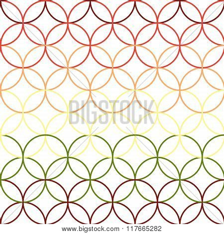 Seamless Abstract Intersecting And Repeating Modern Colorful Circles