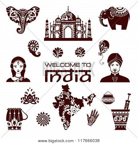 Set Of Indian Icons