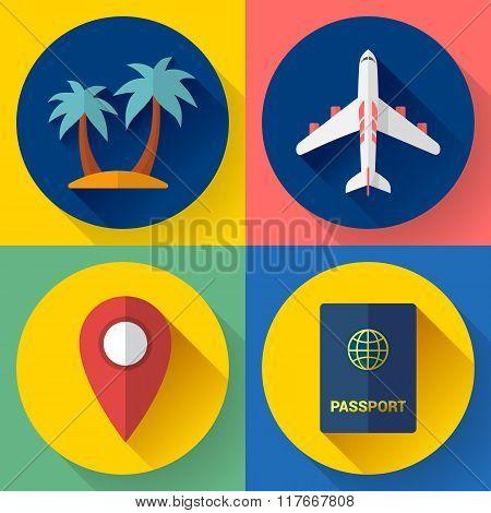 Set of Flat Quality Travel Icons