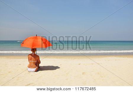 Beach scene. Phuket island, Thailand