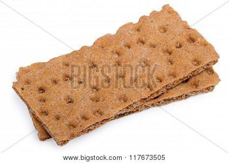 Crispbreads, Isolated On White Background