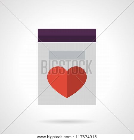 Mothers Day greetings flat color vector icon