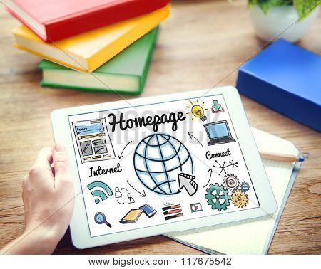 Homepage Global Communication Address Browser Concept