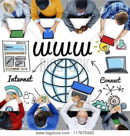 WWW Web Online Technology Global Concept