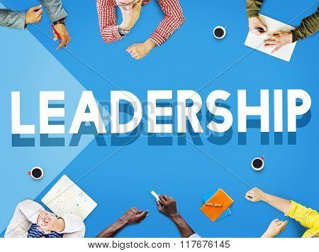 Team Meeting Lead Leadership Planning Marketing Concept