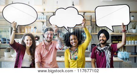 Speech Bubbles Communication Message Connect Concept