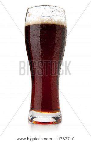 Dark Beer With Water Drops