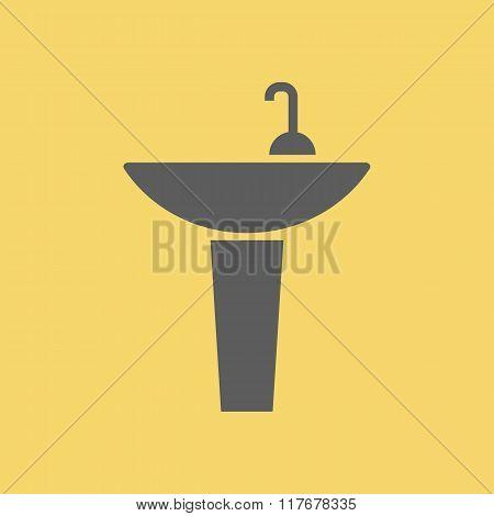 Washbasin Sign Icon