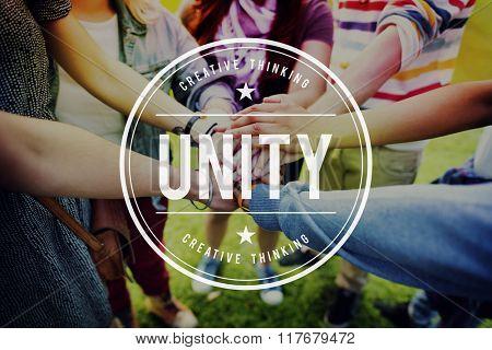 Unity Teamwork Togetherness Partnership Cooperation Concept