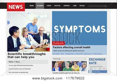 Symptoms Disease Illness Indication Sickness Diagnosis Concept