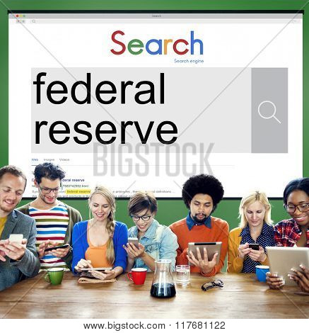 Federal Reserve Currency Economy Financial Concept