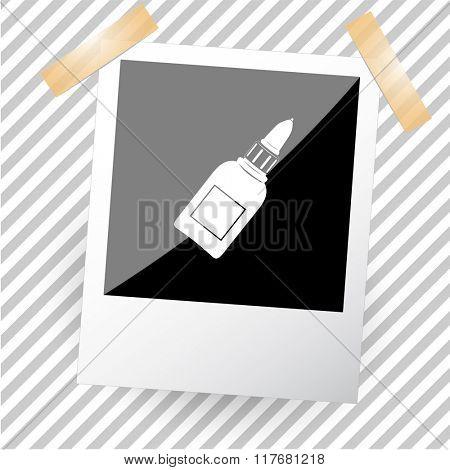glue bottle. Photo frame. Raster icon.