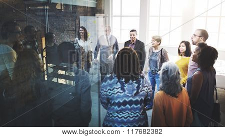 Business Team Organization Brainstorming Meeting Concept