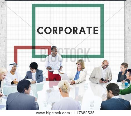 Corporate Business Team Collaboration Group Concept