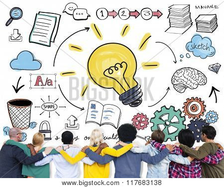 Ideas Learning Strategy Plan Teamwork Concept