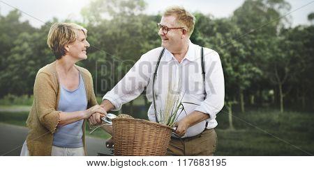 Couple Husband Wife Cheerful Caucasian Romantic Concept