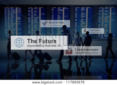 Business People Traveling Airport Destination Concept
