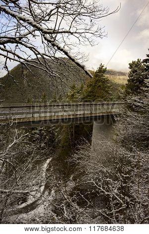 Viaduct Through Mountainous Terrain