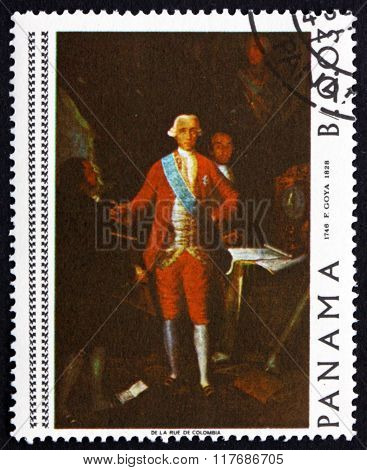 Postage Stamp Panama 1967 Count Floridablanca, Painting By Goya