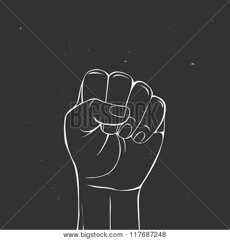 Protest fist.