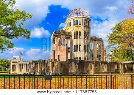 Hiroshima, Japan at the Atomic Bomb Dome.