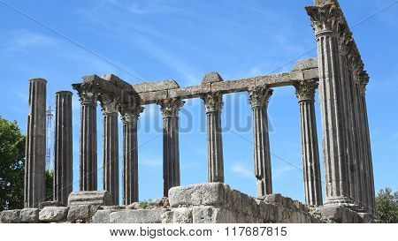 The 'Temple of Diana' in the UNESCO World Heritage Site of the City of Evora Portugal Europe