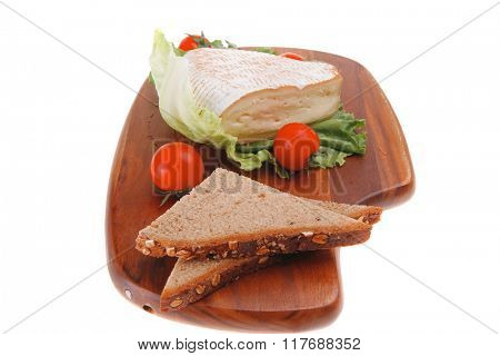 image of goat cheese over white with bread