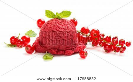 Red Sorbet Of Berry