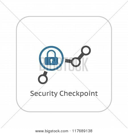 Security Checkpoint Icon. Flat Design.