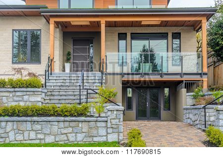 Fragment of luxury house in Vancouver, Canada.