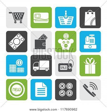 Flat Online shop icons