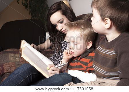 Babysitter Writing something on a book