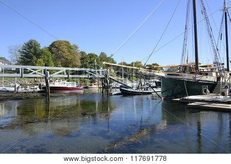 Camden Harbor In Maine