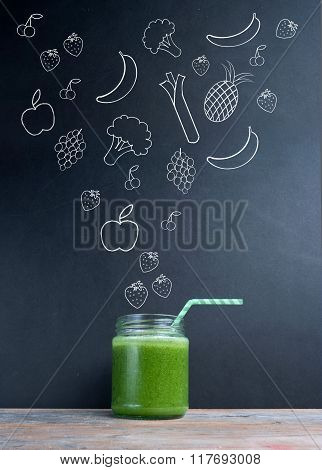 Green Smoothie Diet Concept