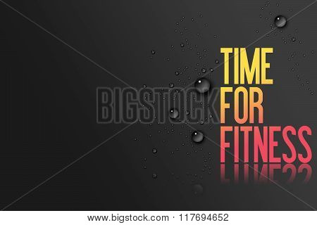 Yellow Red Text On Black Background - Template For Fitness Centre Website Or Advertising With Copy S