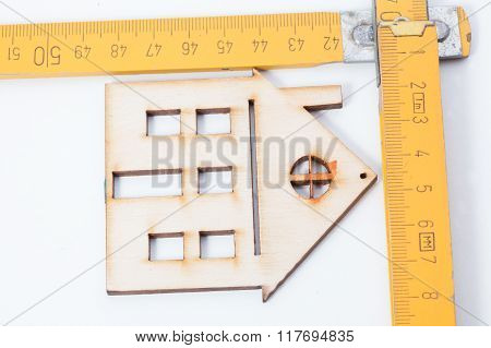 Houses - Wooden Folding Rulers. Design House Concept