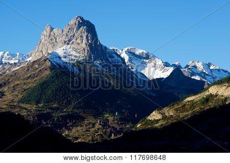 Foratata Peak in Tena Valley, Aragon, Huesca, Spain.