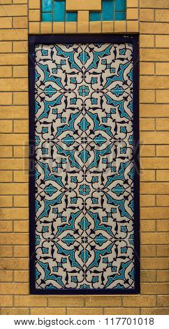 Iranian decorative pattern design on the wall.