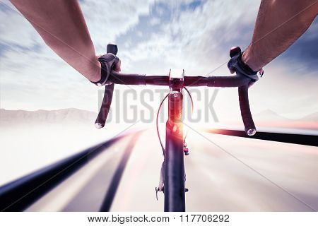 Cyclist in speed
