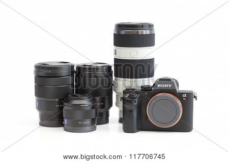 Sony Alpha mirrorless camera and E-mount lenses