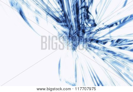 Abstract futuristic background with blue 3D tech elements