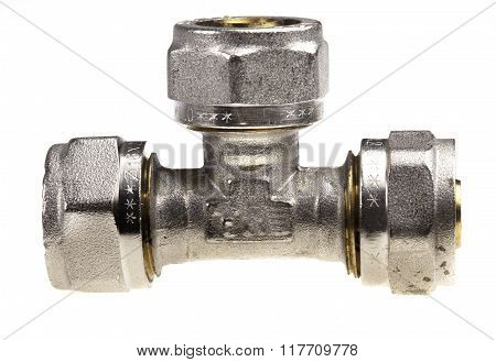 plumbing fitting isolated on a white background