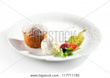 Pumpkin Pie with Ice Cream