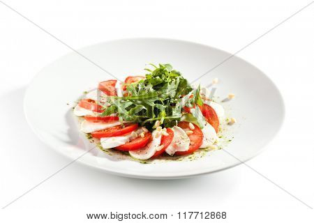 Caprese with Rocket Salad
