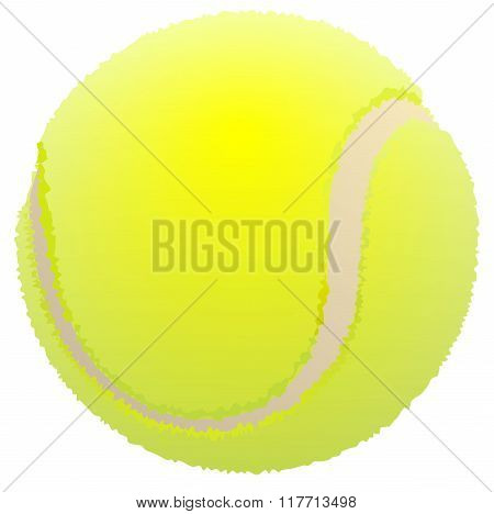 Tennis ball. Ball for lawn tennis